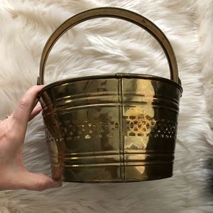 """Brass bucket pail with handle 9"""""""